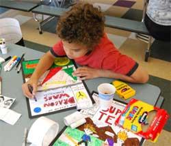 Summer Art Camp Drawing Comic Book